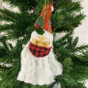 2020 Santa Christmas Ornament with Face Mask